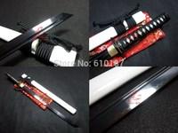"30"" clay temperd 1095 steel iron tsuba ninja sword tungsten adsorb blade sharpened"