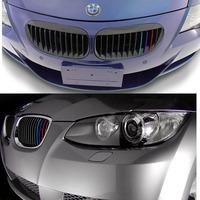 3pcs AUTO FRONT GRILL Sticker  CAR STICKER CAR DECAL REFLECTIVE Bar PVC FOR BMW M3 M5 X5 X6