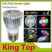 1pcs Full Spectrum LED Grow light 10W E27 AC85V - 265V LED grow lamp for flower plant hydroponics system ,Grow Box