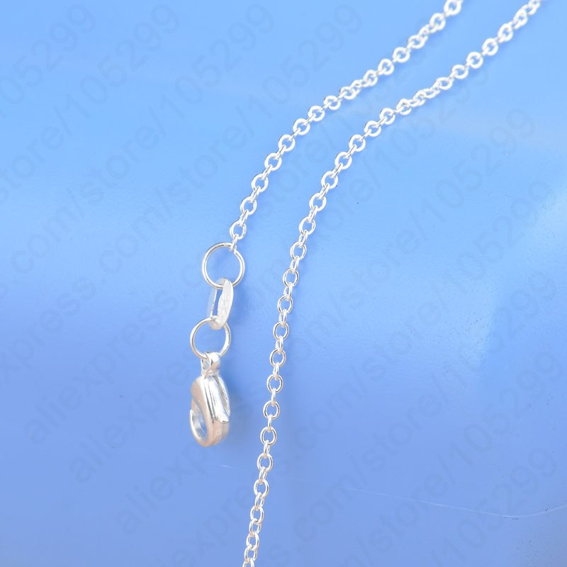"1PC Nice Accessories Findings 16""-30"" Necklace Chains O Genuine 925 Sterling Silver Link Rolo Chain+Lobeter Clasp Pendant Cheap(China (Mainland))"