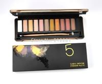 Factory Direct!50 Pieces/Lot New Makeup NO:5 Palette 12 Colors Eyeshadow Palette!12x1.3g .