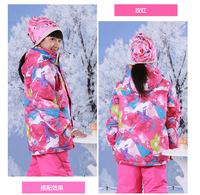 Children`s winter outdoor sports ski Jacket Professional Kids climbing suit boy and girl Outdoor Warm Outerwear waterproof
