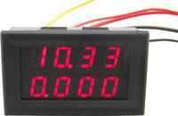"""5pcs/lot dual 0.28 """"  red led 2in1 0-33.00V/0-3.000A digital voltmeter ammeter volt amp panel meter voltage Ampere gauge"""