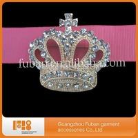 (100 pieces/lot) rhinestone gold crowm brooch for wedding decoration/ party