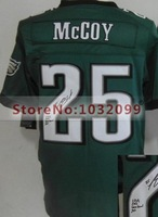 #25 LeSean McCoy Jersey Green,2014 Elite New Transfer Jersey,Wholesale American Football Jersey Signature,Embroidery Logos,Mix O