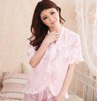2014 pyjamas femme for summer sexy women's nightgown pijamas femininos brand ladies silky sleeping dress sets to home clothes
