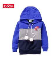 Children autumn sweatshirt boys hoodies top quality kids outwear boy brand clothing fashion patchwork for spring free shipping