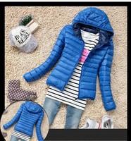 New fashion 2014 Womens Winter Casual Warm Thin Slim Down Jacket Female Cotton Hooded Coat Women's Parka Windbreaker Outerwear
