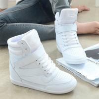 Women's Hidden Wedge Heels Height Increasing Sport Shoes Women's Elevator Shoes Sneakers Casual