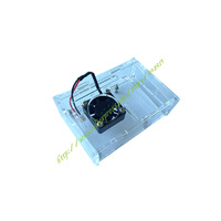 Free shipping Raspberry PI shell raspberry pi B+ box with a small fan,With a fixed screw, thickened acrylic shell, strong fan