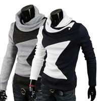 2014 turtleneck men five-pointed star pullover men brand  knitted sweater men thermal fleece long-sleeve men's sweaters