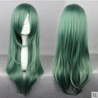 Green Curly Women Anime Cosplay Wigs Female Kagero Project Kido Cosplay Costumes 68CM Long Wig COS231