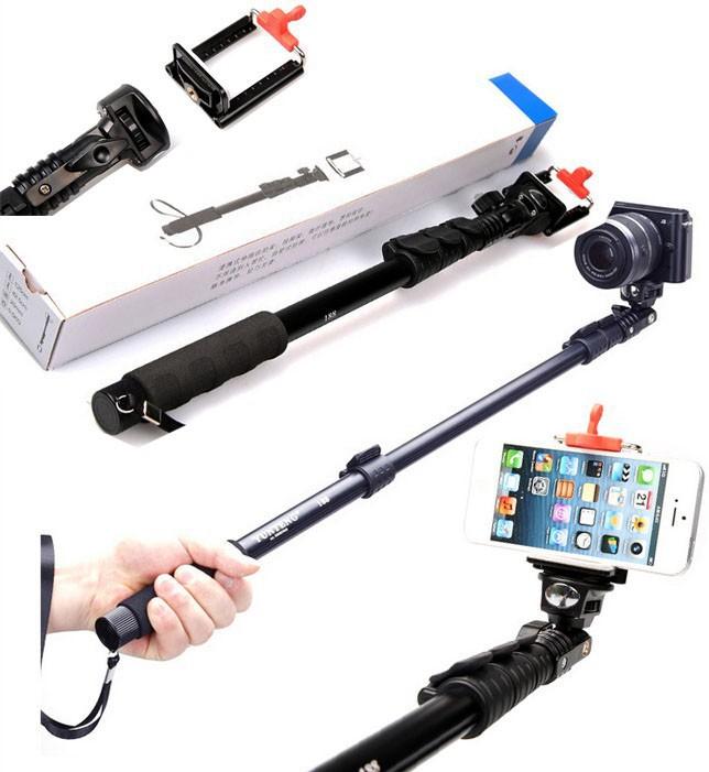 kit monopod selfie bast o tripod mount gopro controle remoto r 74 59 em me. Black Bedroom Furniture Sets. Home Design Ideas