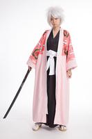 cosplay anime costume bleach kyoraku shunsui Pink Cloak