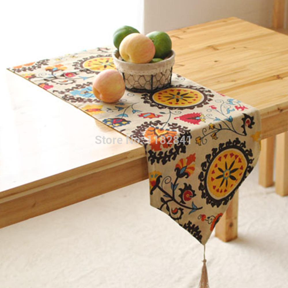 Household tableware table runner stylish minimalist modern European flag Bohemian bed garden coffee table supports custom flag(China (Mainland))