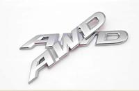 Car AWD Emblem SUV Rear Sticker Electroplate AWD Metal Rear Sticker