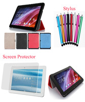"""3 in 1 Kits,Stylus+Screen Protector+Luxury Ultra-thin Leather Case For ASUS Transformer Pad TF103C TF103CG 10.1"""" Tab,Free"""