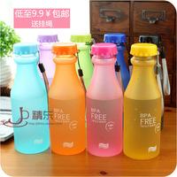 Scrub soda bottle sports cup plastic portable cup sealed leak-proof