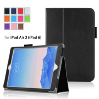 Hot Colorful  leather case for Apple iPad Air 2 ( iPad 6) tablet  smart case for iPad Air 2  free shiping 100pcs/lot