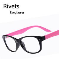 Wholesale Fashion Retro Star Rivets Nail Students Eyeglasses Youth Myopia Spectacles Frames Free shipping