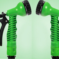 Green Flexible Water Hose Garden Hose 100ft With Spary Gun Magic Expandable Water Hose Wash Car