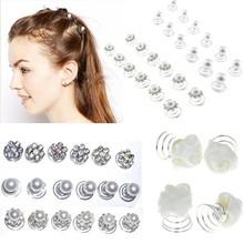 25%OFF Wholesale 120Pcs Silver Wedding Diamante Crystal Pearl Flower Hair Twists Swirl Pin Spirals