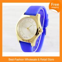 Epacket Free Shipping 5pcs/lot New Fashion Designer Ladies Sport P  Brand Silicone Watch Jelly Watch Women Quartz Watch10 Colors