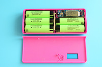 Dual USB 5*18650 Charger Channel Portable Mobile Power Bank Case External Battery With LCD&LED Light Free Shipping