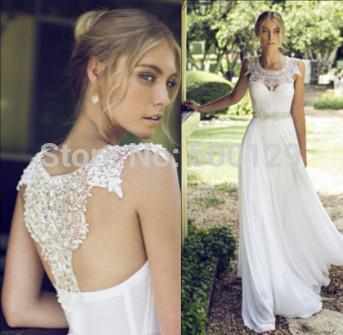 2015 рики далаль новая коллекция свадебные платья жемчужина кружево линия длинные шифон свадебные платья для невесты