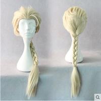 New Women Anime Wigs Forzen Cosplay Wig Princess Elsa Cosplay Costumes Wig Women Gold 60cm COS232