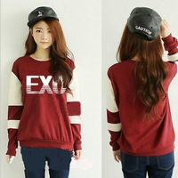 EXO Autumn Winter   same paragraph sweater clothes for men and women plus velvet jacket should aid exo hoodie kpop