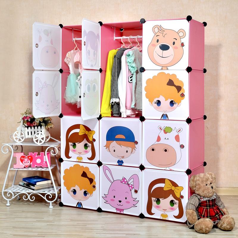 16 cubes DIY Children's simple wardrobe kids closet organizer childrens wardrobe(China (Mainland))