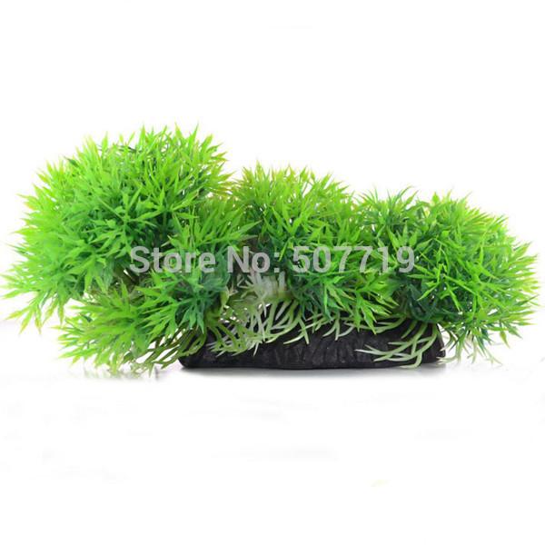 Aquarium decoration fake plastic grass grass 8.5cm simulation(China (Mainland))