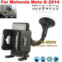 PVC Holder Car Mount Holder Sunction Window Mobile Phone Holder +Vent Clip For Motorola Moto G (2014) (2nd Gen.)Moto G2 Moto G+1
