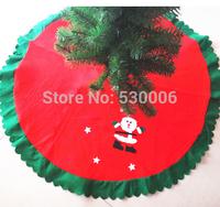 Christmas Tree Decoration Navidad Stereo Santa Claus Non-woven Fabric New Year Christmas Tree Skirt Diameter 90cm Christmas Gift