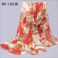 Qiu dong velvet chiffon emulation silk scarves The leopard print long scarf wholesale