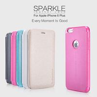 1pcs new 2014 original Nillkin Brand For apple iphone 6 plus 5.5 inch phone case cover bag Ultra Slim pu Leather Case Flip Cover