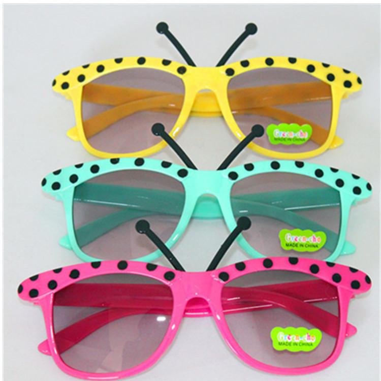 Free Shipping Baby Boys Girls Kids Sunglasses Bug Shape Child Goggles Glasses 8 Colors 100%UV400(China (Mainland))