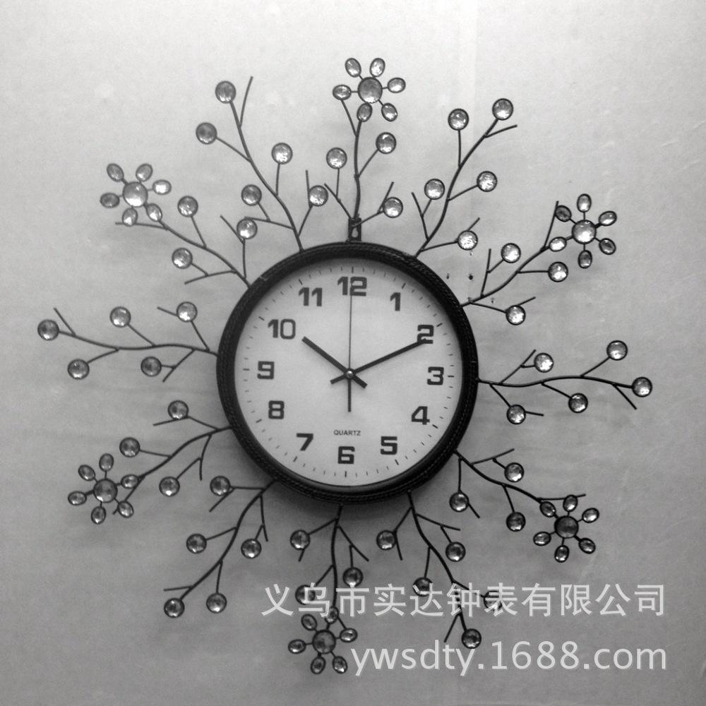 Wall Clock Shida SD11006 Tianyuan Jing tone diamond fashion home living personality of Modern Art Bell creative(China (Mainland))
