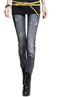 women leggings Printed Denim Stretch Denim Leggings pantyhose snow 219