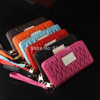 2014 Stylish Korean Famous Brand Wallets,Top Popular Women's Fashion Organizer Purse,Charming Wave Design Coin Clutch,SJ105