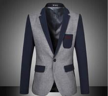 2015 new arrival Big Size M-6XL Men Suit  Plaid Cotton Casual mens floral blazer Slim Business Jacket Patchwork A0502