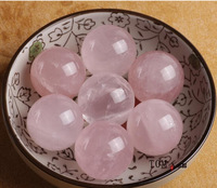 Natural rose quartz sphere ball  pink crystal bath ball decoration 25mm-30mm wholesale