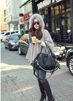 New Arrival 2014 Solid Fashion Hoodies Bat Sleeve Cloak For Women High Quality WF-5198
