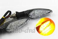 2x 16 LED Motorcycle Light Moto Turn Signals Rear Indicators Blinker Amber light Black