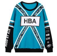 DX-06 2014 HBA Letter Loose Adventure time sweatshirt Fleece 3d sweatshirt Sport Harajuku style Sweatshirts women Hood by air