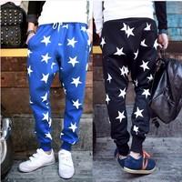Men's Star Printing Hip Hop Sweat Pants Harem Dance Jogger Baggy Trousers Slacks Men Jogging Sport Pants Man Trousers Joggers
