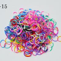 600 PCS Rubber Bands Loom Set Multy Colors DIY Bracelet Anklet Candy Colorful Loom Bands Opp Bag BOS.L19