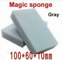 300 pcs/lot Gray Magic Sponge 100x60x10mm Eraser Melamine Cleaner,multi-functional Cleaning free shipping