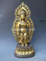 """23inch""""Temple Folk classical Old Bronze Gild TaRa Avalokitesvara Kwan-Yin Buddha"""
